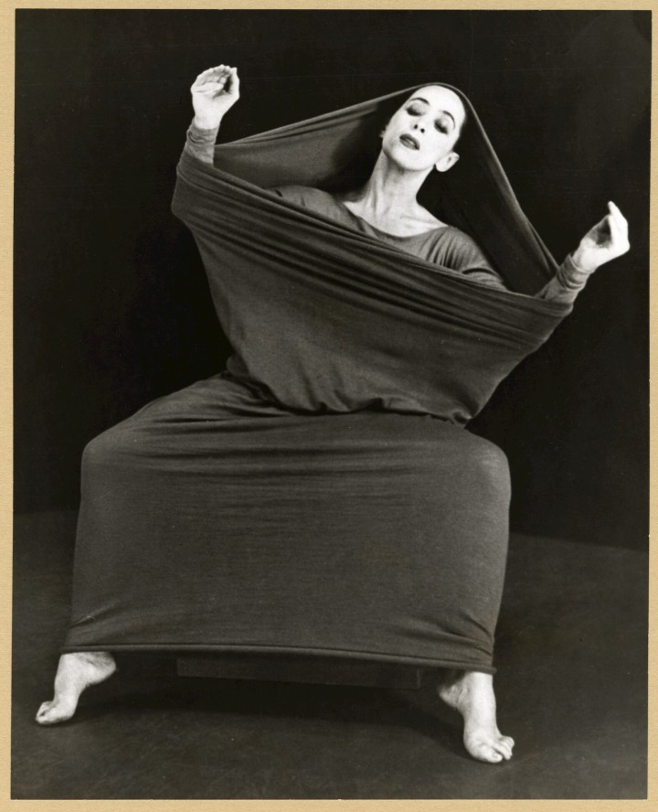Martha Graham in Lamentation, No. 3. Contributor: Moselsio, Herta Site: Selections from the Martha Graham Collection - Performing Arts Encyclopedia - Music Division