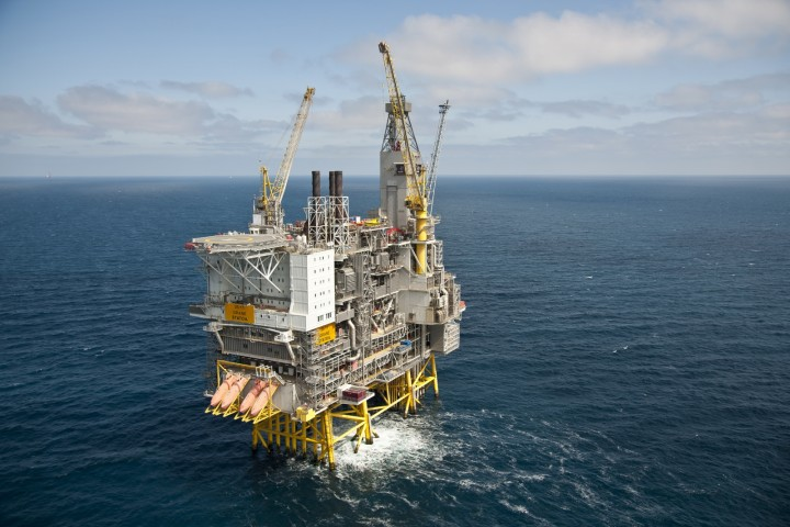 Offshore platforms. Svalin oil field