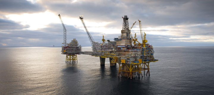 Statoil's Oseberg offshore oil and gas field platform in the North Sea