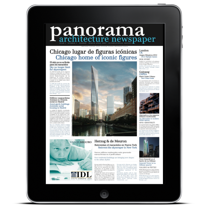 iPad ArchPAPERS I Panorama 01/ architectural newspaper